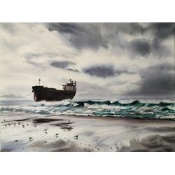 SHIP & SEAGULLS by Edita...