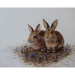 TWO BUNNIES II by Onute...