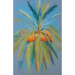 Big Palm Tree with Ripe Dates by Polina Levin