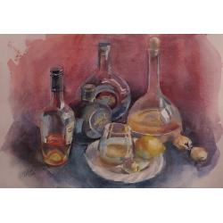 still life from bottles55x38