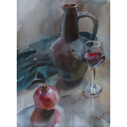 Pomegranate Wine by Tatiana...