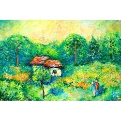 Cottage in Polenovo by Helen Krasnoshchokova