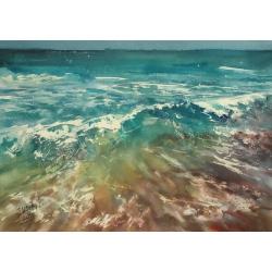 Sea Wave by Tatiana Ilitzky