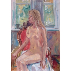 NUDE WOMAN ON A CHAIR by...