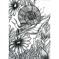 FLOWERS & SNAIL by Tatiana...