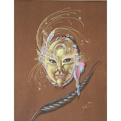 VENETIAN MASK & FEATHER by Irina Bespalova