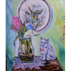CAT & VASE by Irina Garshina