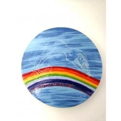 Plate RAINBOW Sculpture by Maria Matyukina